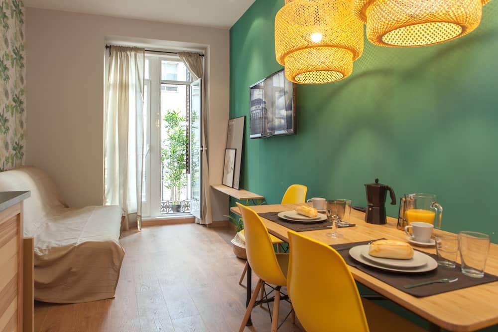 شقة سوبيريور - منظر للمدينة - تناول الطعام داخل الغرفة