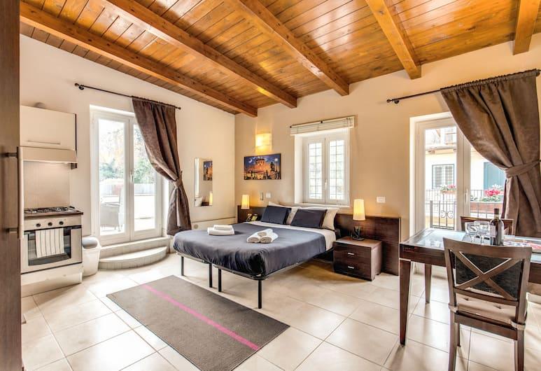 Aurelia Vatican Apartments, Rom, Apartment, Terrace (Loft), Bilik Tamu