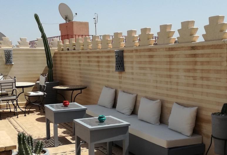 Riad Des Epices, Marrakech, Comfort szoba kétszemélyes ággyal, terasz, kilátással a városra, Terasz/udvar