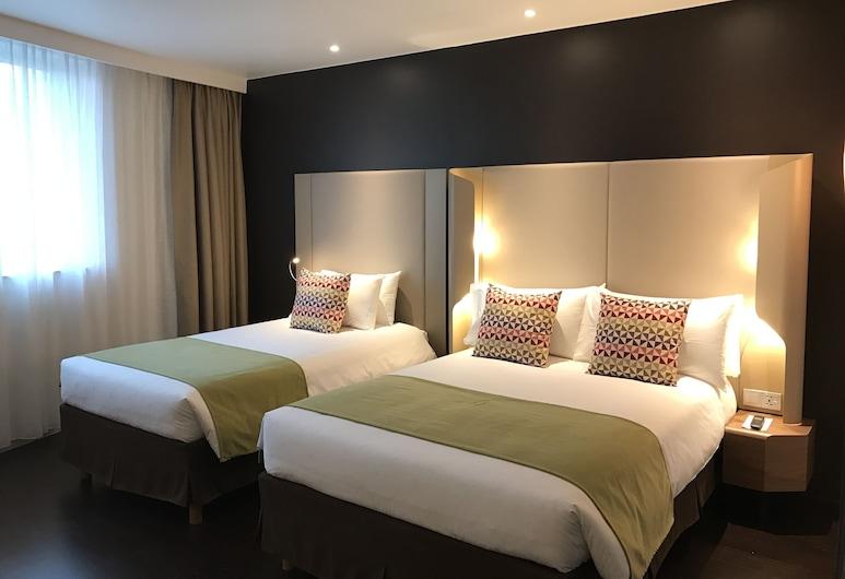 Campanile Shanghai Bund Hotel, Шанхай, Стандартный двухместный номер с 2 односпальными кроватями, 2 односпальные кровати, для некурящих, Вид из номера