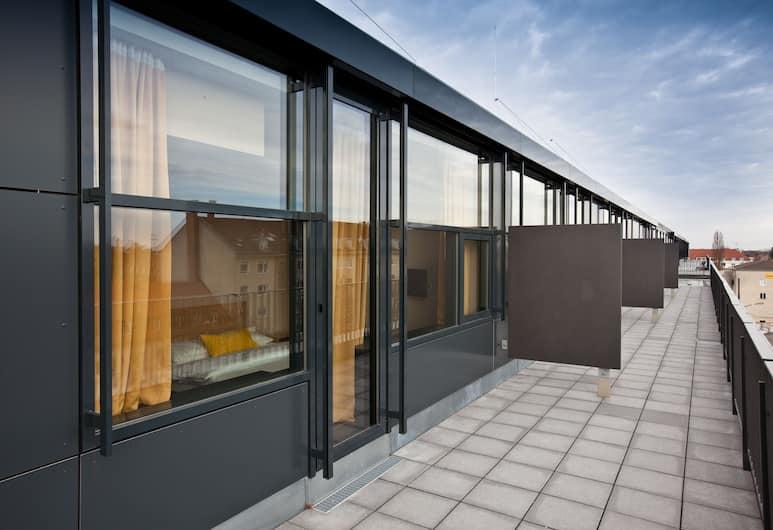 LetoMotel München Moosach, Monaco di Baviera, Camera doppia, terrazzo, Terrazza/Patio