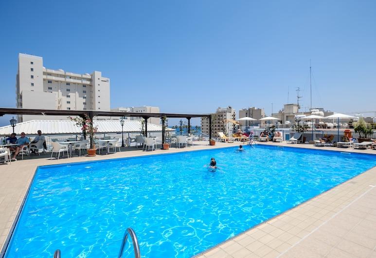 Atrium Zenon Hotel Apartments, Larnaka, Pool auf dem Dach