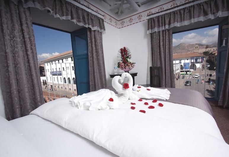 ホスタル インティ ワシ プラザ デ アルマズ クスコ, Cusco, ダブルルーム シティビュー, 部屋