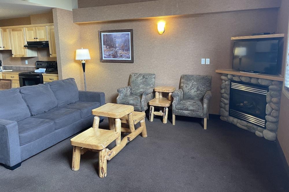 غرفة علوية فاخرة - غرفة نوم واحدة - منطقة المعيشة