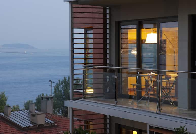 Deris Bosphorus Lodge, Stambulas, Apartamentai su vitrininiais langais, 3 miegamieji, vaizdas į jūrą, Svečių kambarys