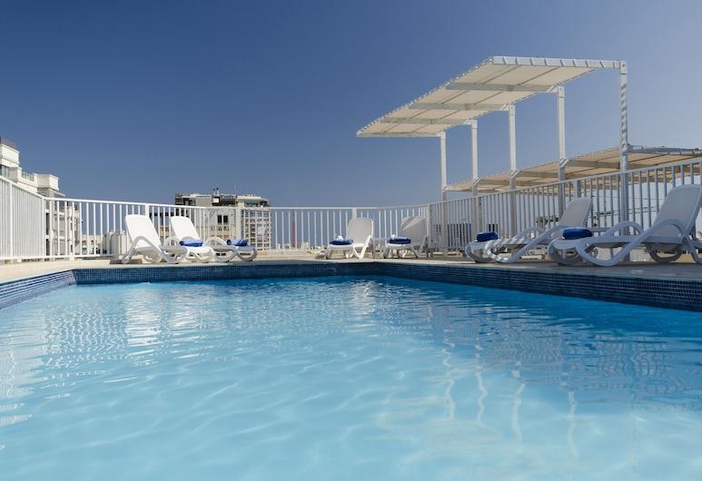 Hotel Argento, St. Julians, Pool på tagterrassen