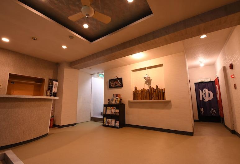 Onsen Yado Hamayu Nagi - Hostel, Beppu, Vstupní hala