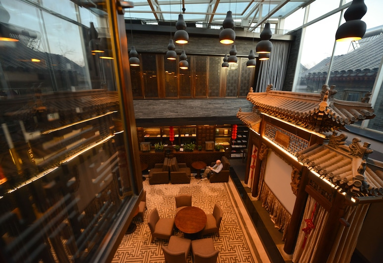 Shichahai Shadow Art Performance Hotel, Peking, Sohvabaar fuajees