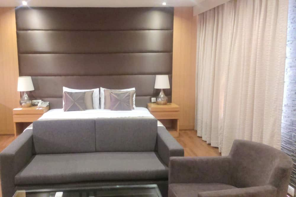 Suite, 1 King Bed, Smoking, City View - Living Area