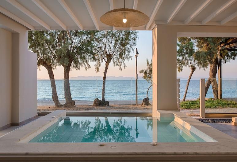 빌라 디 마레 시사이드 스위트, 로도스, 프리미어 스위트, 분사식 욕조, 바닷가, 분사식 욕조
