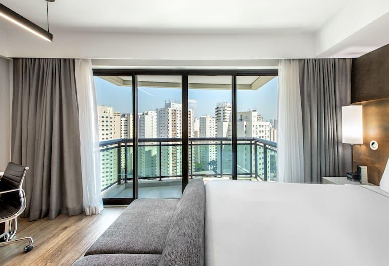 Melia Ibirapuera, San Paulas, Aukštesnės klasės kambarys, 1 labai didelė dvigulė lova (Grand Premium with balcony), Vaizdas į miestą