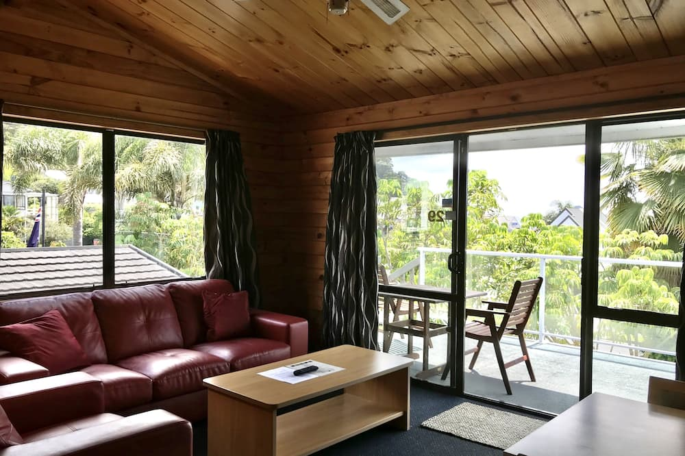 Leilighet – comfort, 2 soverom, utsikt mot hage, hageområde - Stue