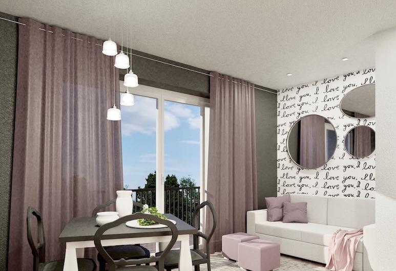 Residence Haus Bethusy, Bellagio, Standard-huoneisto, 1 makuuhuone (with Terrace), Oleskelualue