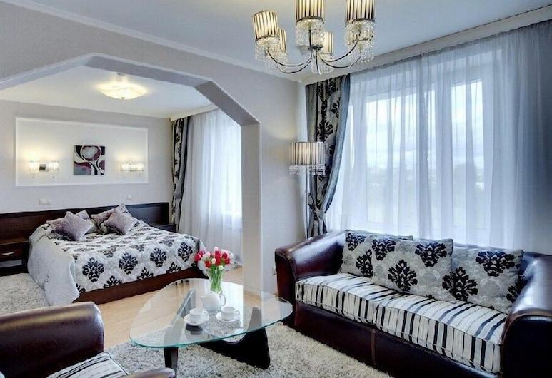 Voskhod Hotel, מוסקבה, דירה (Double), חדר אורחים