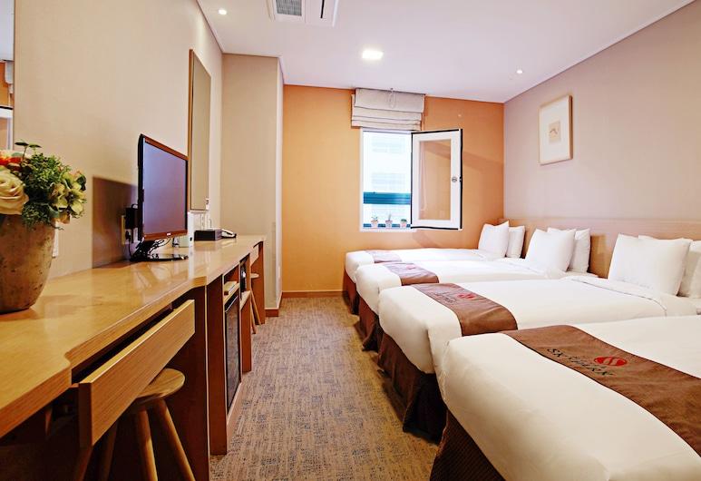 明洞天空花園 3 號飯店, 首爾, 四人房, 客房