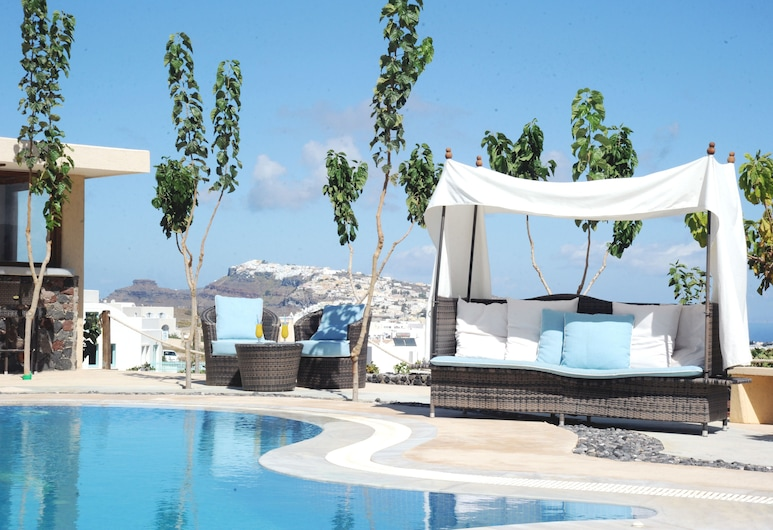 Santorini Mesotopos, Santorini, Parte delantera del hotel
