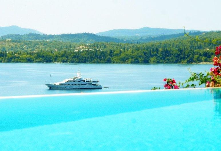 Corfu Luxury Villas, Корфу, Вилла «люкс», отдельный бассейн, вид на море (Rossa), Вид из номера
