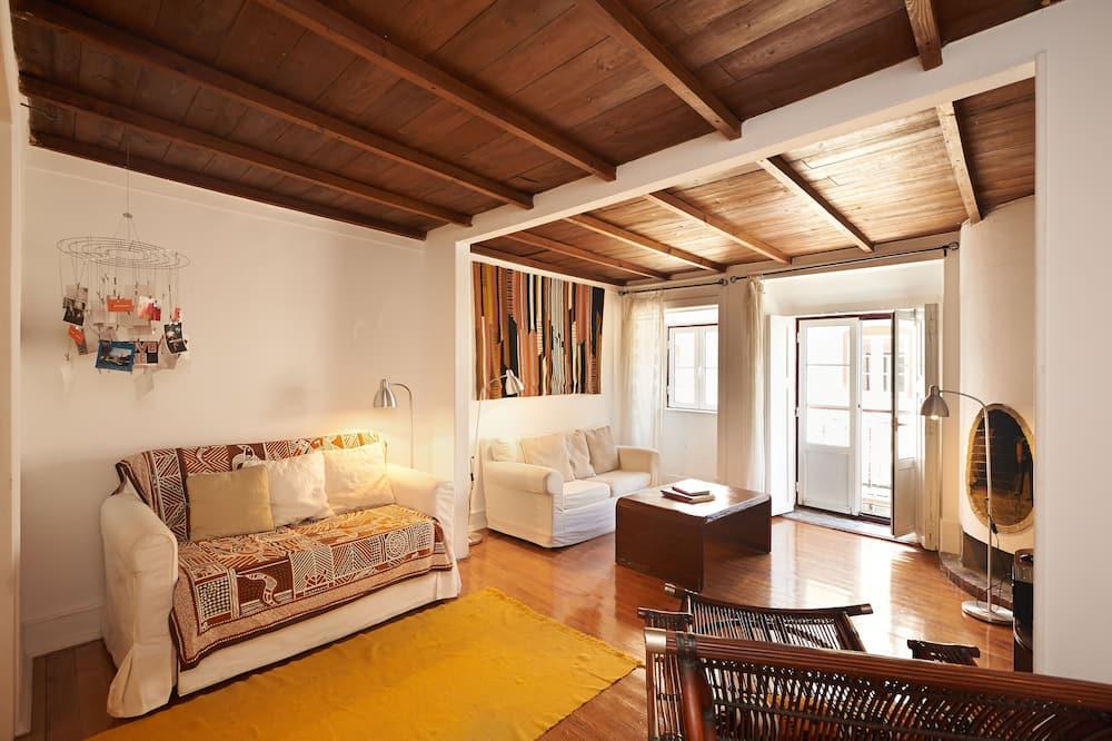 Appartement « Premier », 2 chambres, terrasse (Duplex) - Salle de séjour