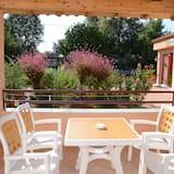 Familienapartment, 1 Schlafzimmer, zum Garten hin (Split Level) - Balkon