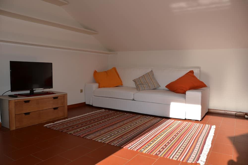 舒適頂樓客房, 1 間臥室, 露台 - 客廳