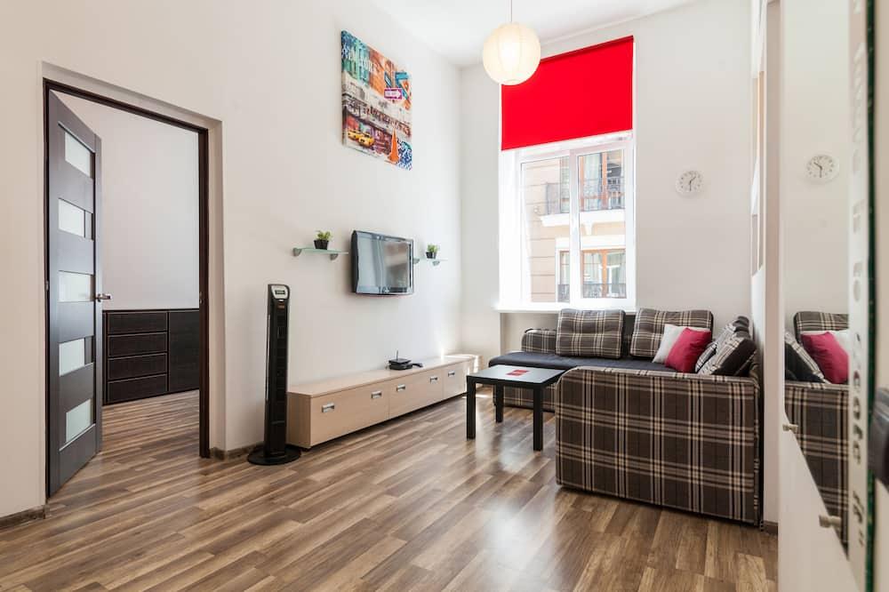 Appartamento Deluxe, 1 camera da letto, cucina - Area soggiorno