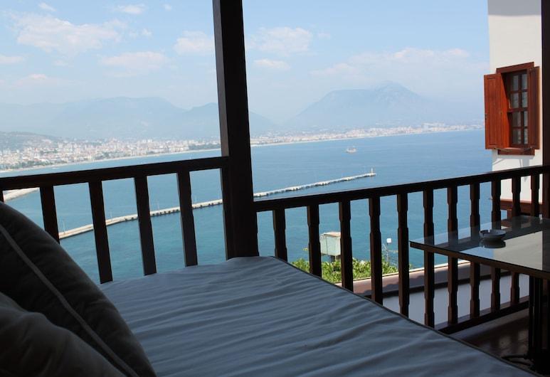 Hotel Villa Turka, Alanya, Novomanželský apartmán, výhľad na more, Balkón
