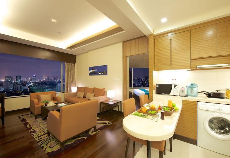 Jasmine Resort Hotel, Bangkok, Sky Bay Suite with High Ceiling, Single Occupancy, Restaurace