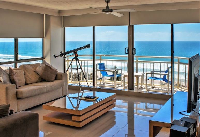 Seacrest Beachfront Holiday Apartments, Surfers Paradise, Διαμέρισμα, 2 Υπνοδωμάτια, Θέα στη Θάλασσα (7 Night Rate), Καθιστικό