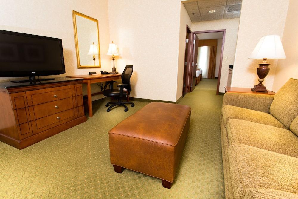 Luksusa numurs, 2 divguļamās karalienes gultas, ledusskapis un mikroviļņu krāsns (2 Rooms, Sofabed) - Dzīvojamā istaba