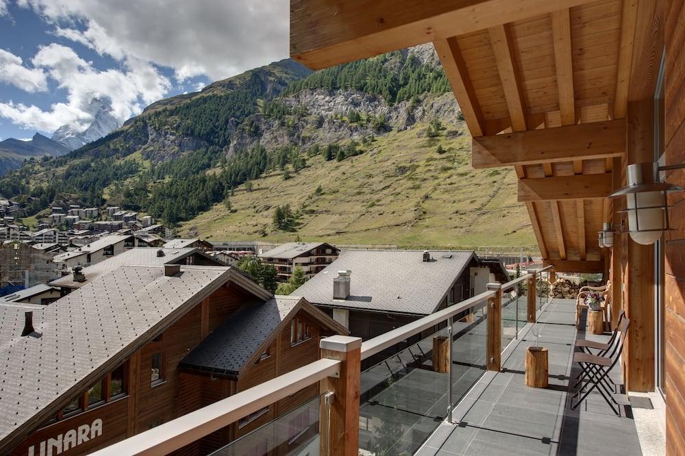 Luxusný ateliérový apartmán, 5 spální, vírivka, výhľad na hory (The Zermatt Lodge) - Balkón