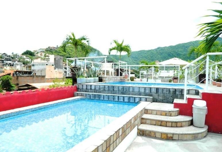 La Iguana de Oro Studios & Apartments, Пуэрто-Вальярта, Спа-ванна на свежем воздухе