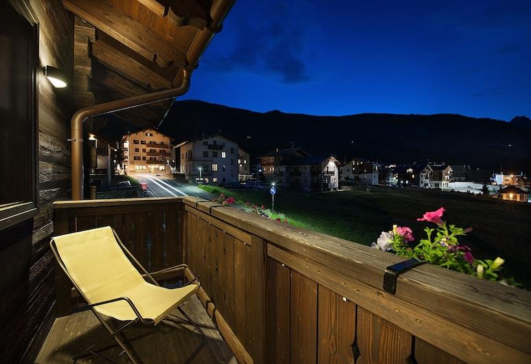 Hotel Meeting, Livigno, Camera con letto matrimoniale o 2 letti singoli, balcone, Balcone