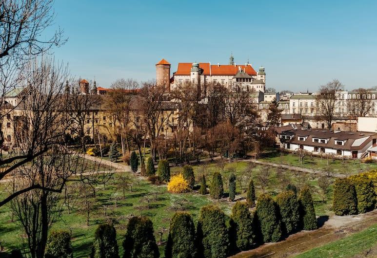 Queen Boutique Hotel, Kraków, Deluxe dubbelrum eller tvåbäddsrum - balkong - utsikt mot trädgården, Balkongutsikt