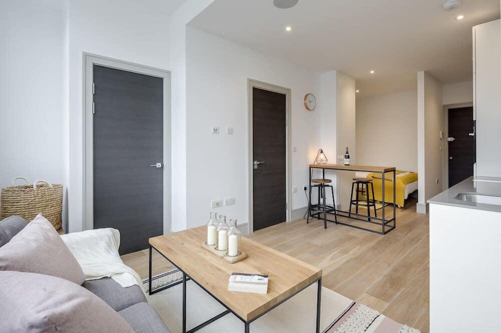 Comfort studio, 1 tweepersoonsbed met slaapbank - Woonruimte