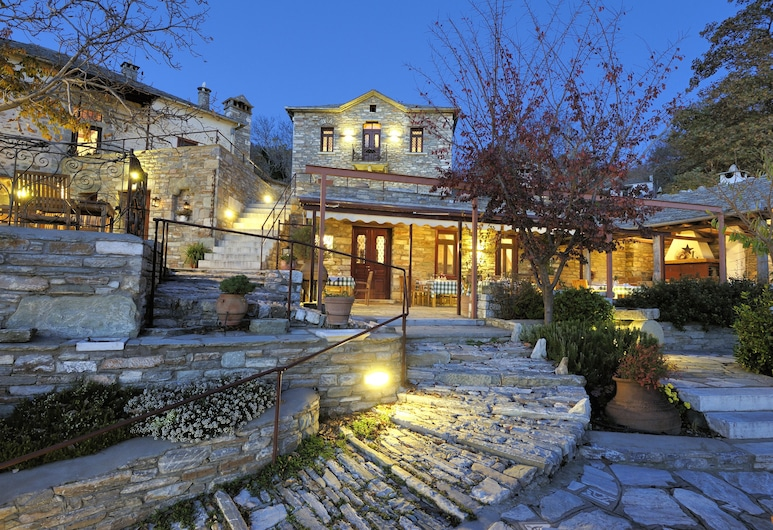 Anovolios Boutique Hotel, South Pelion, Hotel Front – Evening/Night