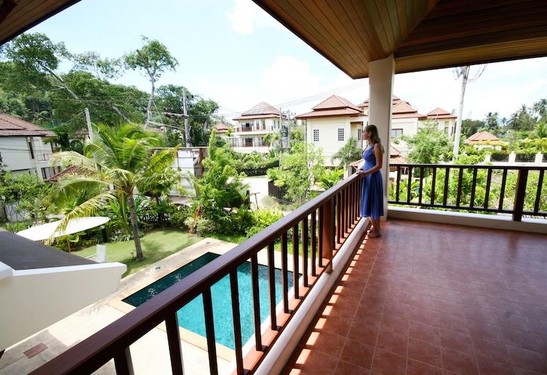 布吉班陶熱帶別墅溫泉渡假酒店, Choeng Thale, 3 Bedroom Pool Villa, 露台