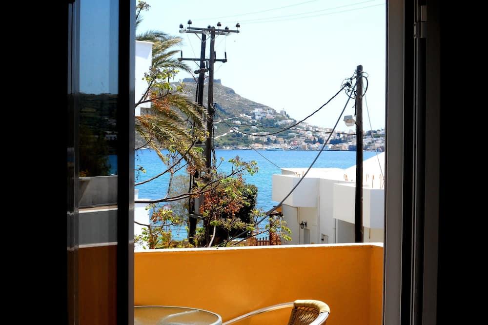 Appartement Familial, 1 chambre, vue partielle sur la mer (4 adults) - Balcon