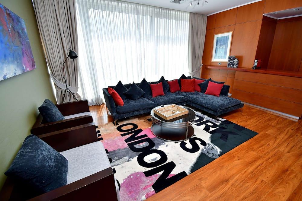 Prezidenta luksusa numurs, 1 divguļamā karaļa gulta, nesmēķētājiem - Dzīvojamā zona