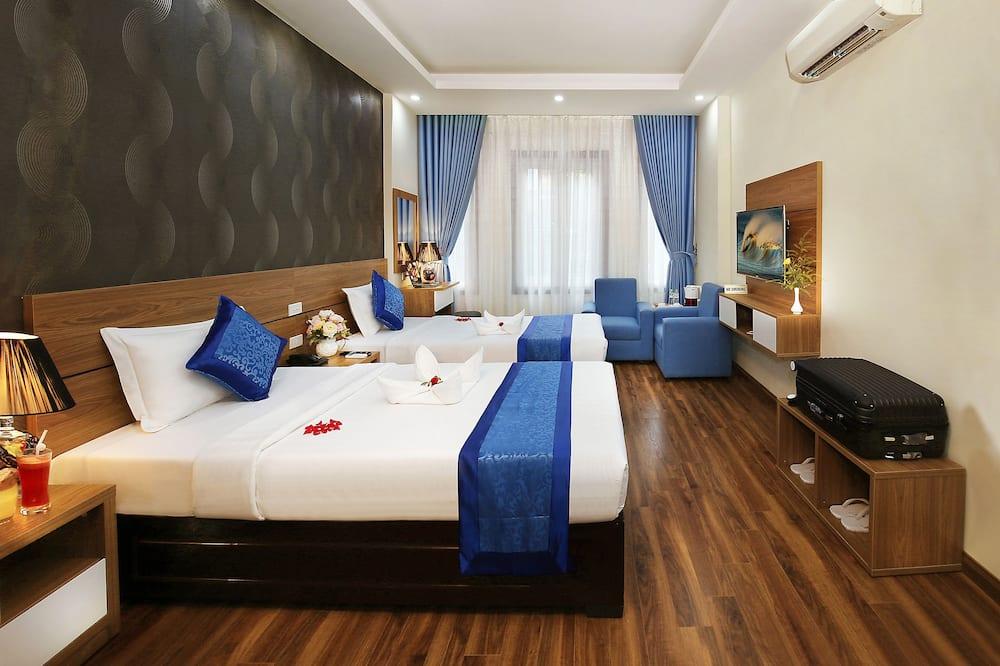 Apartament rodzinny typu Suite, 2 łóżka podwójne - Z widokiem na miasto