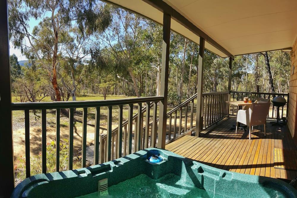 奢華平房, 熱水浴缸, 山景 - 陽台