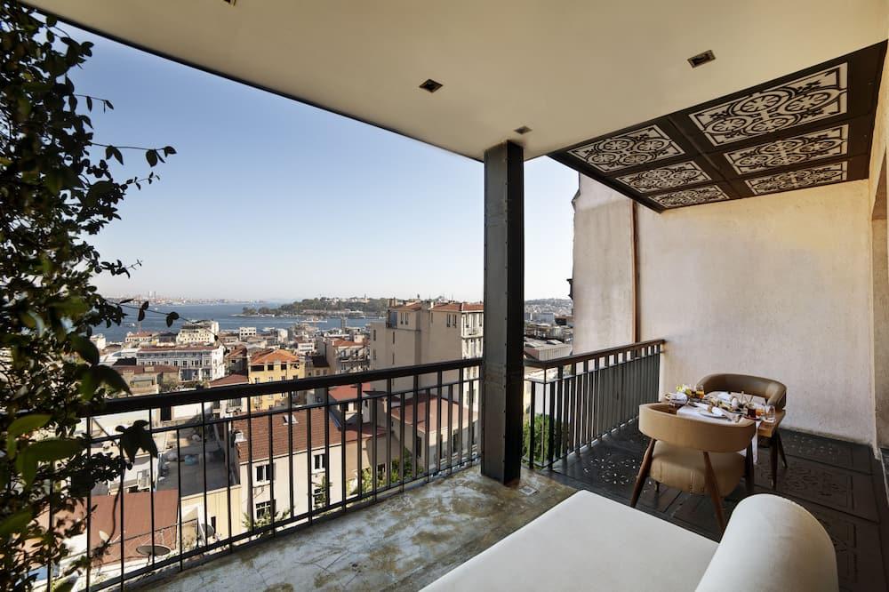 Panorāmas luksusa numurs, balkons, skats uz jūru - Balkons