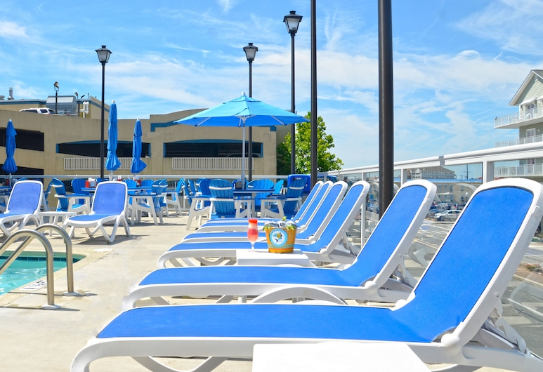 Crystal Beach Hotel, Ocean City, Terraza