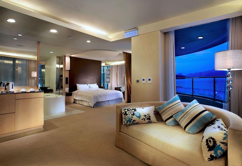 The Crystal Resort Sun Moon Lake, Yuchi, Standarta numurs, 1 divguļamā gulta (Lake), Dzīvojamā zona