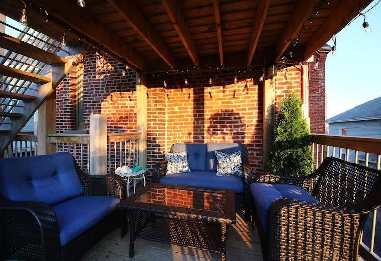 Suites of Euston, Charlottetown, Chambre, coin cuisine (en suite), Terrasse/Patio