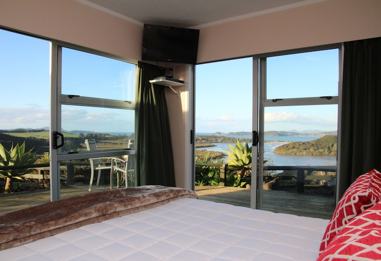 Cook's Lookout Motel, Paihia, Studio, Sea View (Queen), Guest Room View