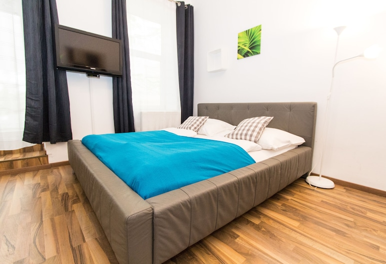 CheckVienna – Apartment Haberlgasse, Wiedeń, Studio Economy, kuchnia, Pokój