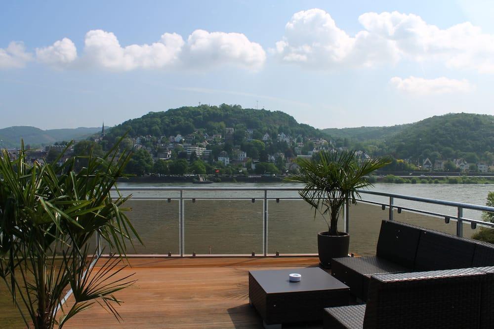 Phòng đôi tiện nghi đơn giản, Quang cảnh sông (Roof Terrace) - Sân thượng/sân hiên