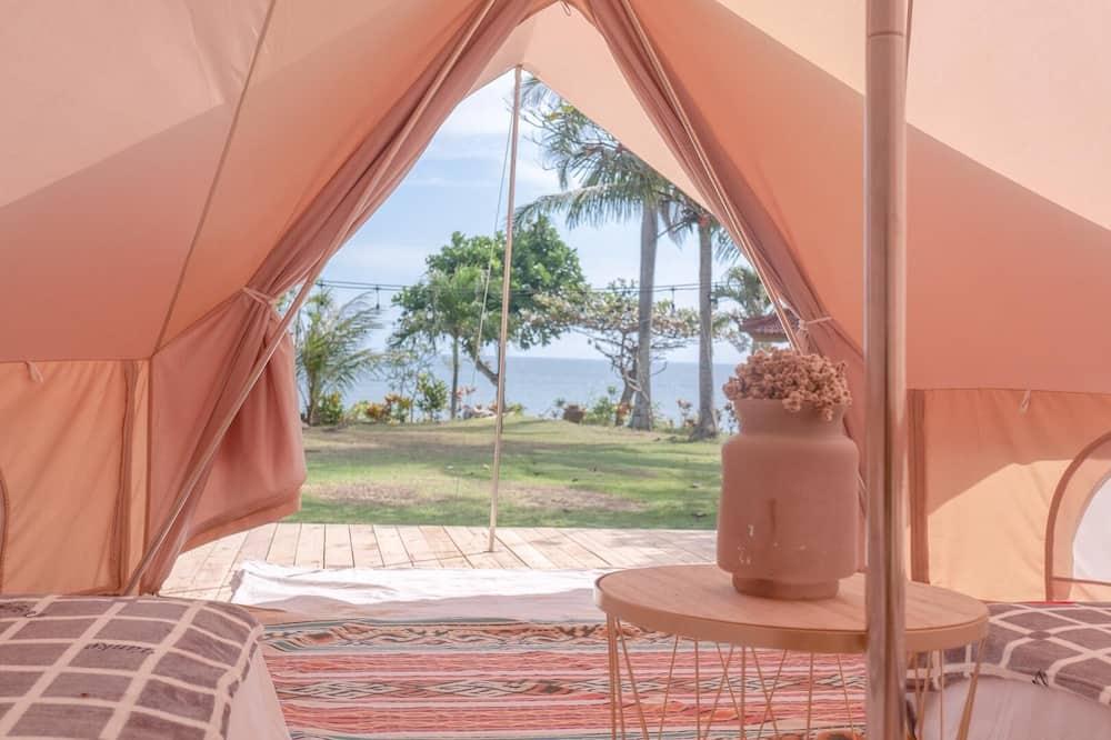 Romantiško stiliaus palapinė, 2 viengulės lovos - Vaizdas į paplūdimį / vandenyną