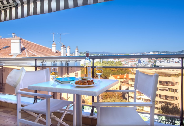 Club Maintenon, Cannes, Chambre Simple Standard, terrasse, Terrasse/Patio