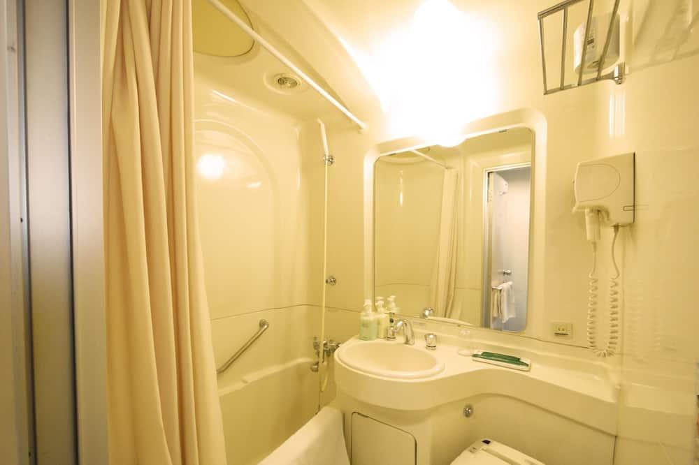 シングルルームシングルサイズベッド 1 台喫煙可 - バスルームの設備